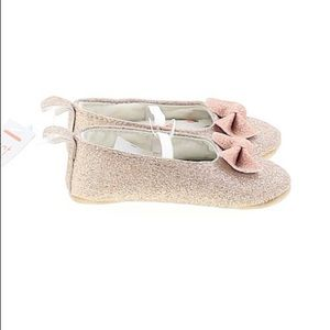 Carter's Rose Gold Glitter Shoes Size 0-3